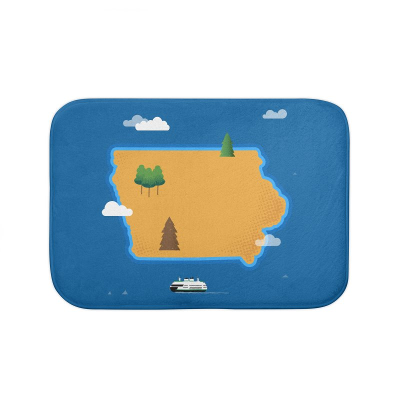 Iowa Island Home Bath Mat by Illustrations by Phil