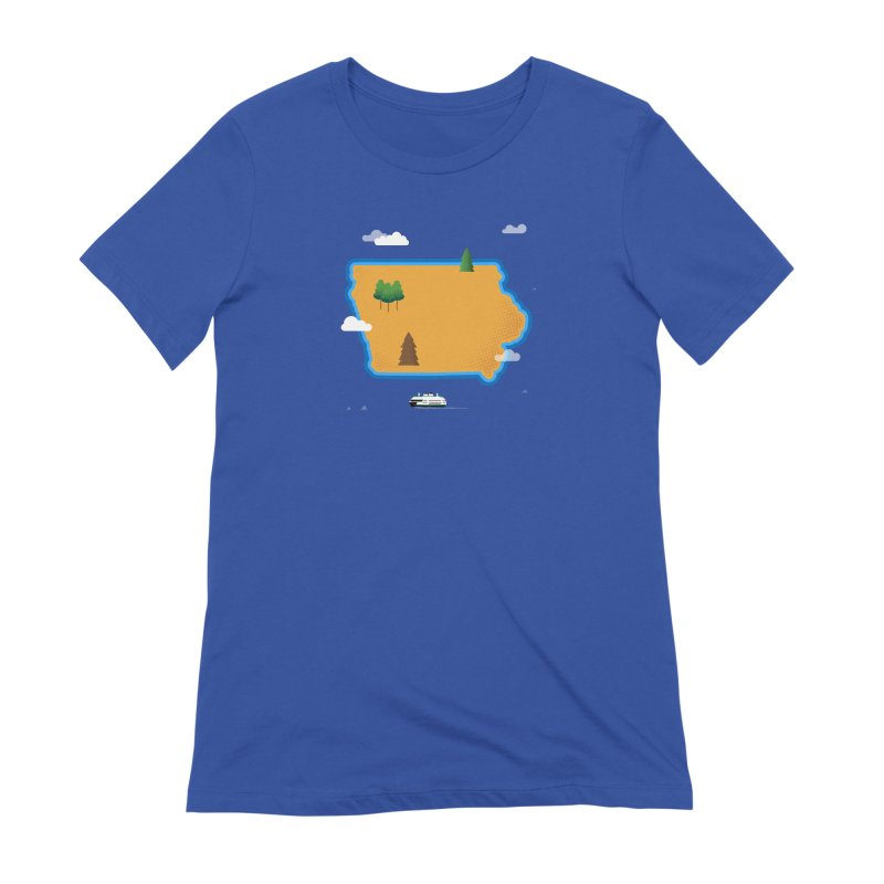Iowa Island Women's T-Shirt by Illustrations by Phil
