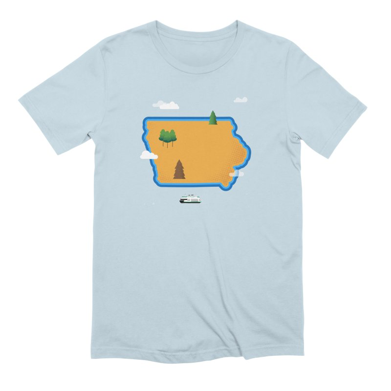 Iowa Island Men's Extra Soft T-Shirt by Illustrations by Phil