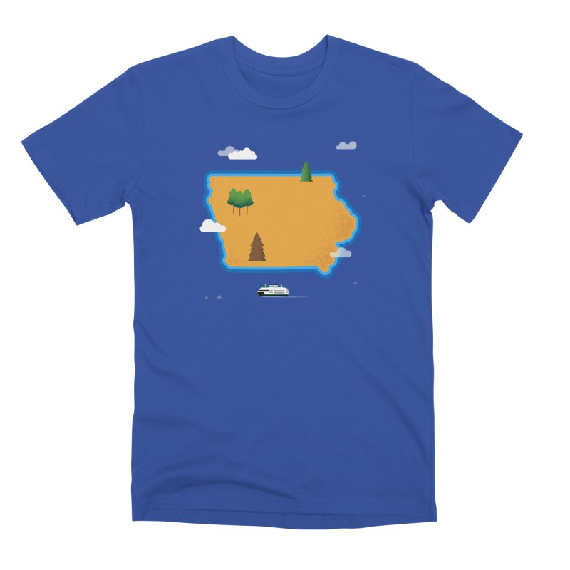 Iowa Island Men's T-Shirt by Illustrations by Phil