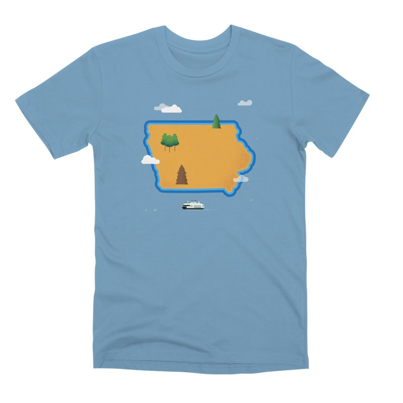 Iowa Island Men's Premium T-Shirt by Illustrations by Phil