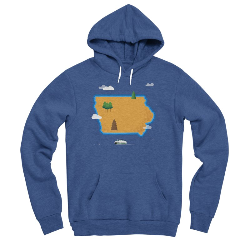 Iowa Island Men's Sponge Fleece Pullover Hoody by Illustrations by Phil