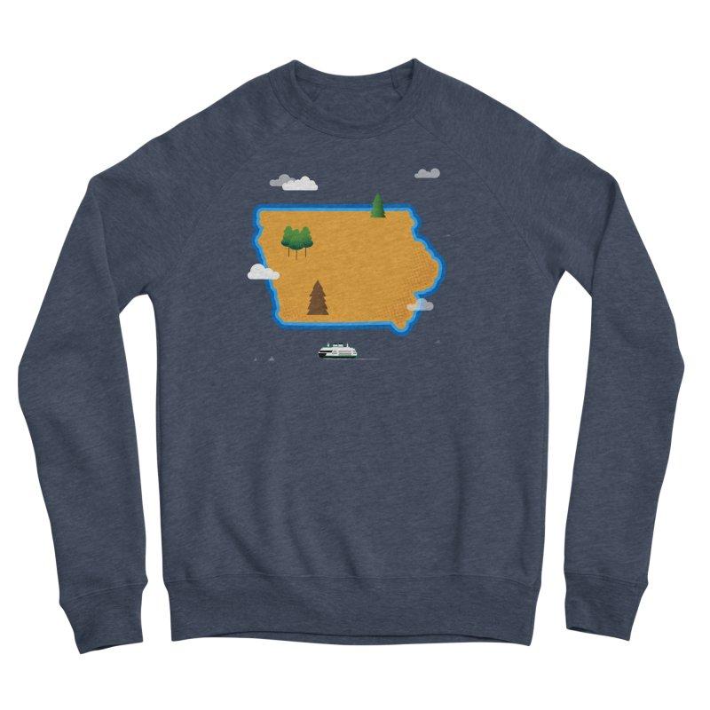 Iowa Island Women's Sponge Fleece Sweatshirt by Illustrations by Phil