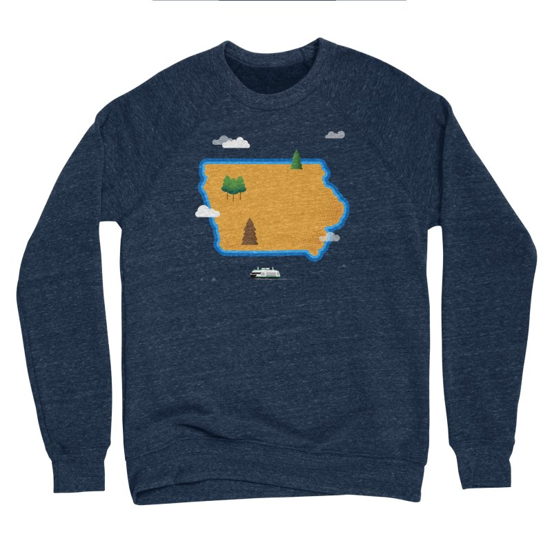 Iowa Island Women's Sponge Fleece Sweatshirt by Illustrations by Phil