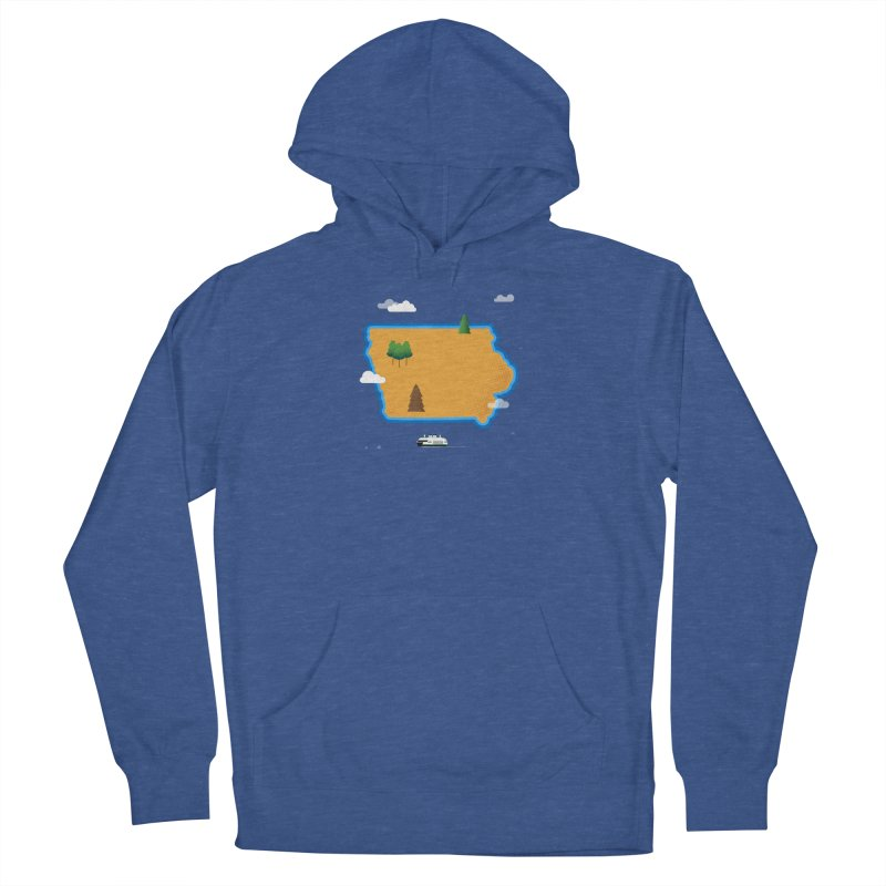 Iowa Island Women's French Terry Pullover Hoody by Illustrations by Phil