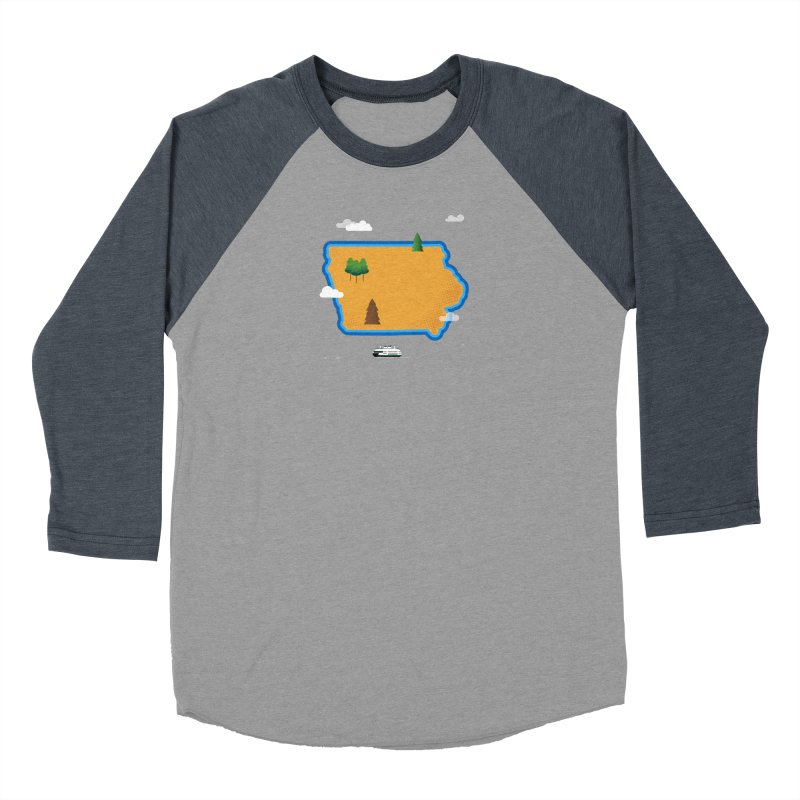 Iowa Island Men's Baseball Triblend Longsleeve T-Shirt by Illustrations by Phil