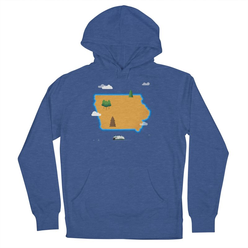 Iowa Island Men's French Terry Pullover Hoody by Illustrations by Phil