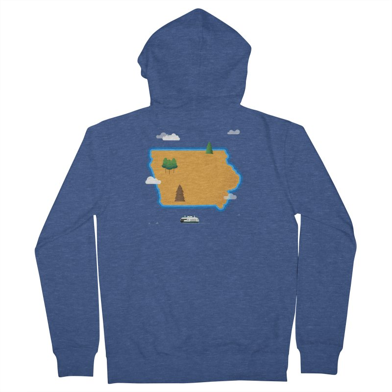 Iowa Island Women's French Terry Zip-Up Hoody by Illustrations by Phil