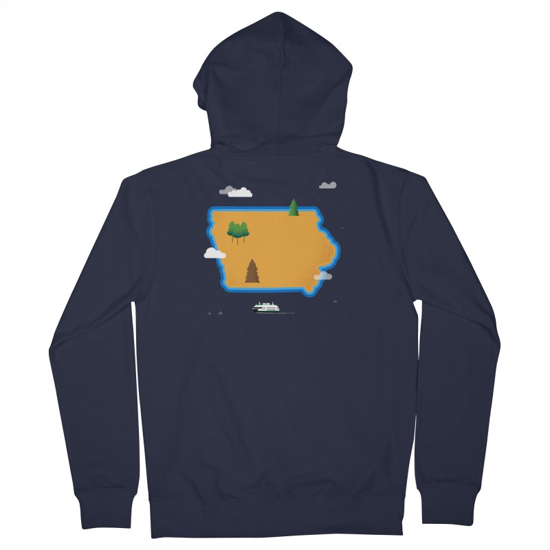 Iowa Island Men's French Terry Zip-Up Hoody by Illustrations by Phil