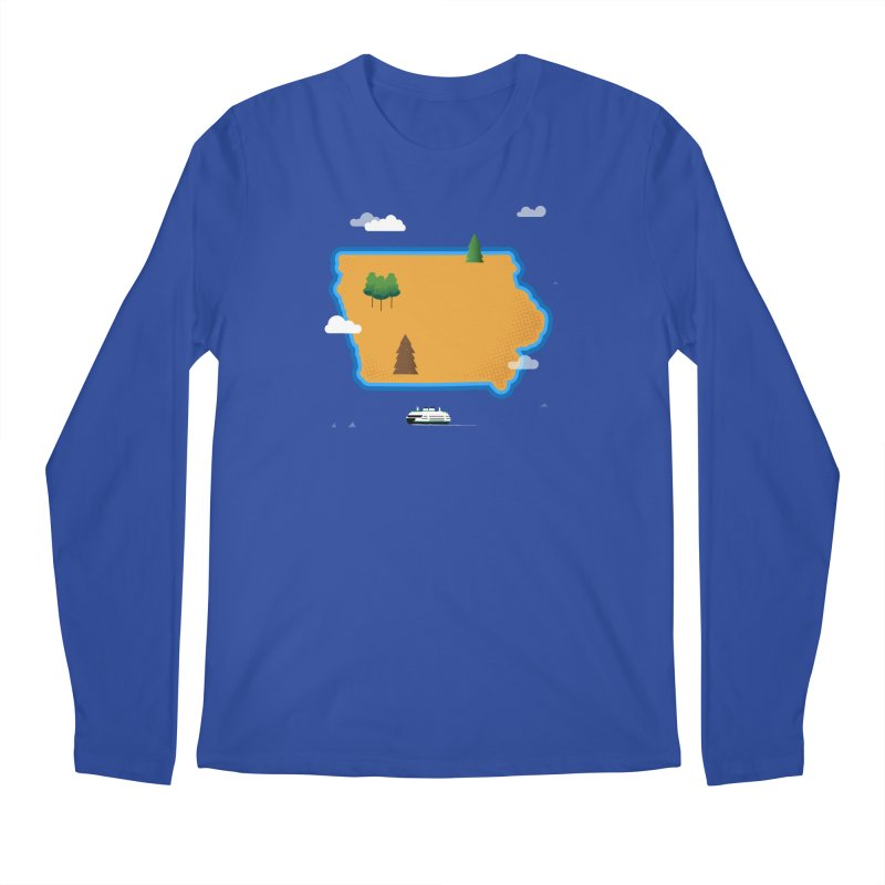 Iowa Island Men's Regular Longsleeve T-Shirt by Illustrations by Phil
