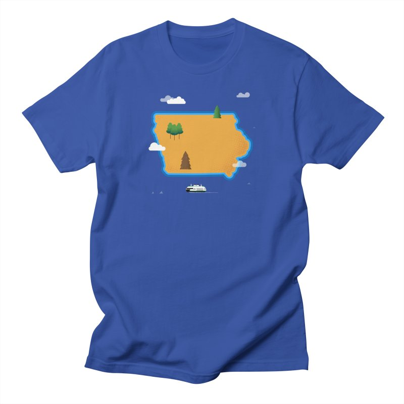 Iowa Island Men's Regular T-Shirt by Illustrations by Phil