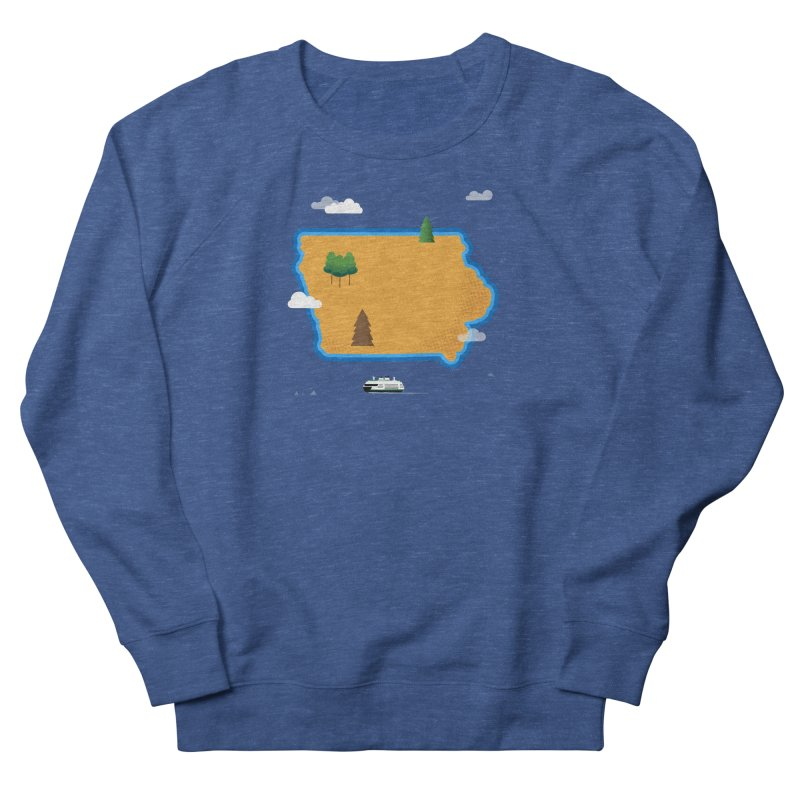 Iowa Island Women's French Terry Sweatshirt by Illustrations by Phil