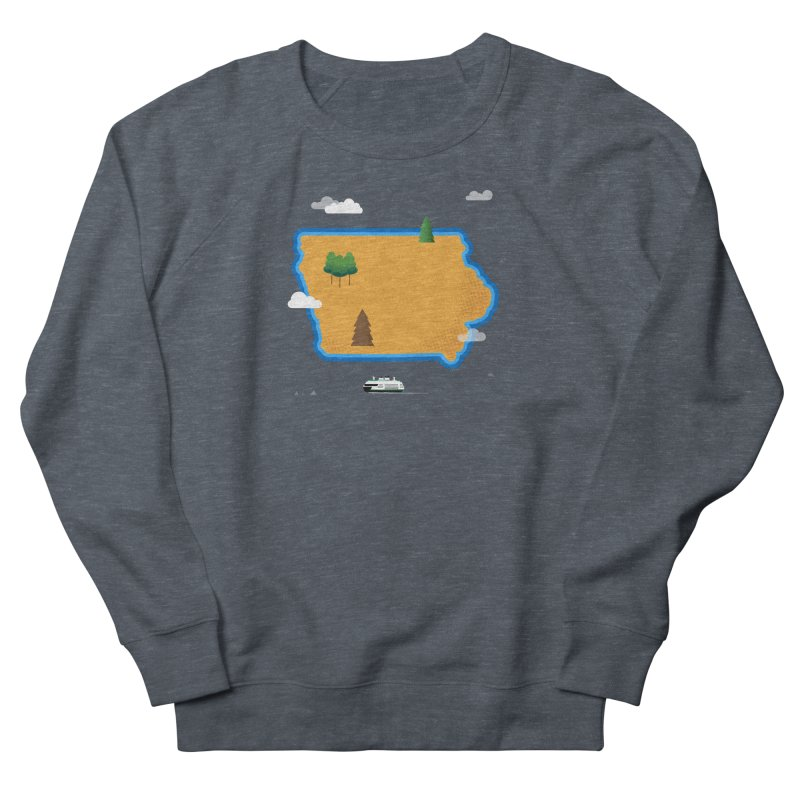 Iowa Island Men's French Terry Sweatshirt by Illustrations by Phil