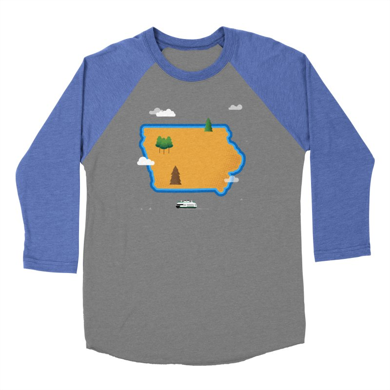Iowa Island Women's Baseball Triblend Longsleeve T-Shirt by Illustrations by Phil
