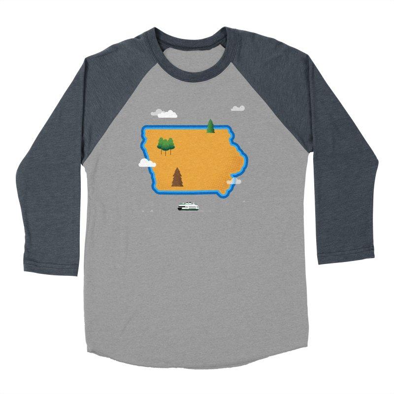 Iowa Island Men's Baseball Triblend Longsleeve T-Shirt by Illustrations by Phil