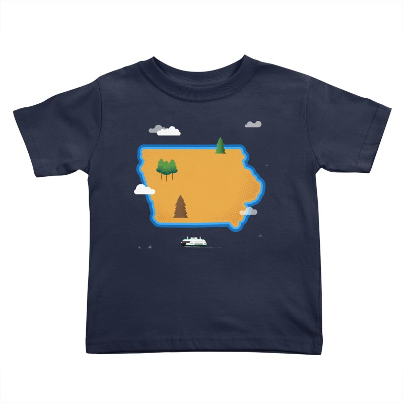 Iowa Island Kids Toddler T-Shirt by Illustrations by Phil