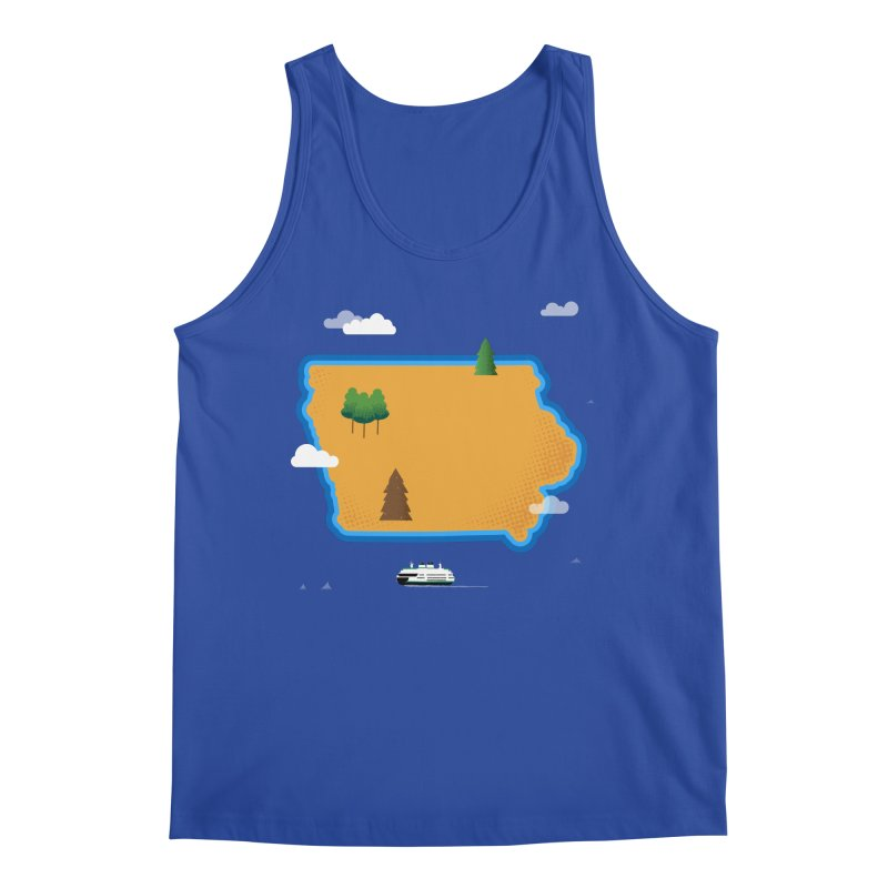 Iowa Island Men's Tank by Illustrations by Phil
