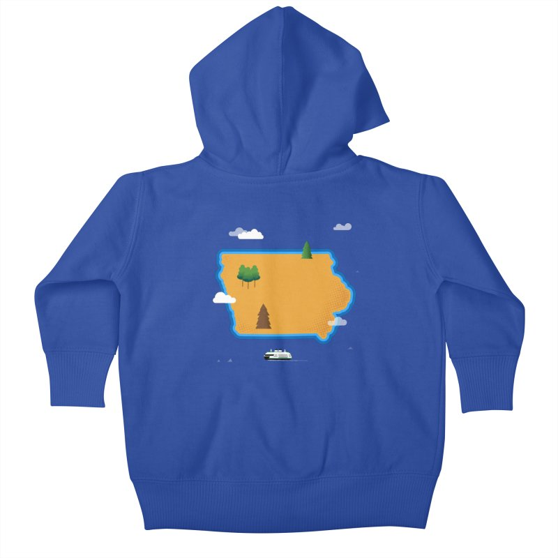 Iowa Island Kids Baby Zip-Up Hoody by Illustrations by Phil
