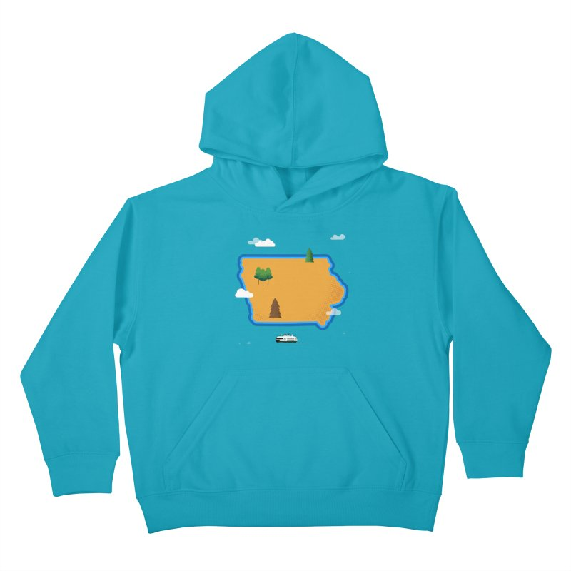 Iowa Island Kids Pullover Hoody by Illustrations by Phil