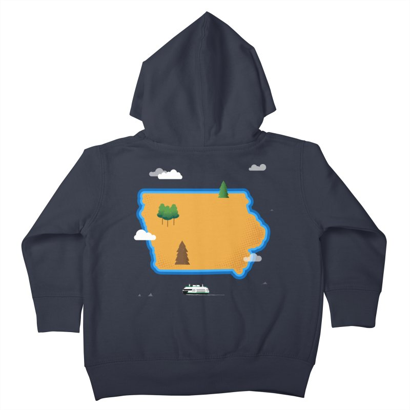 Iowa Island Kids Toddler Zip-Up Hoody by Illustrations by Phil
