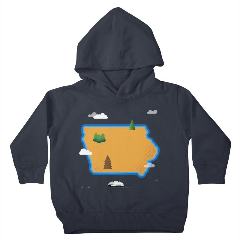 Iowa Island Kids Toddler Pullover Hoody by Illustrations by Phil