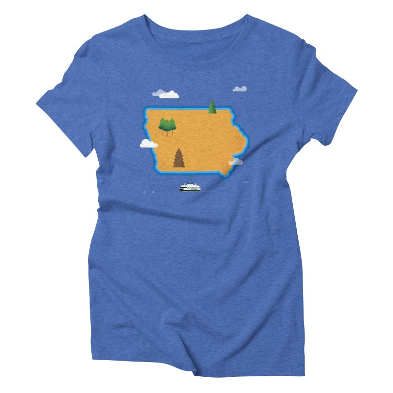 Iowa Island Women's Triblend T-Shirt by Illustrations by Phil