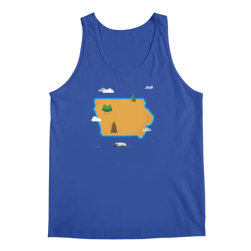 Iowa Island Men's Regular Tank by Illustrations by Phil