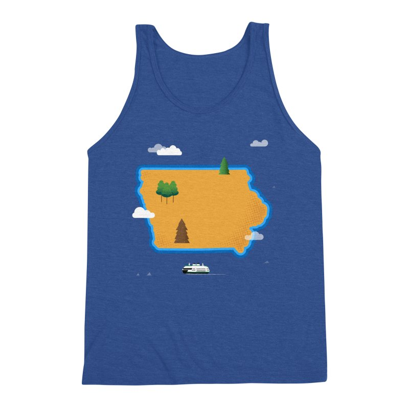 Iowa Island Men's Triblend Tank by Illustrations by Phil