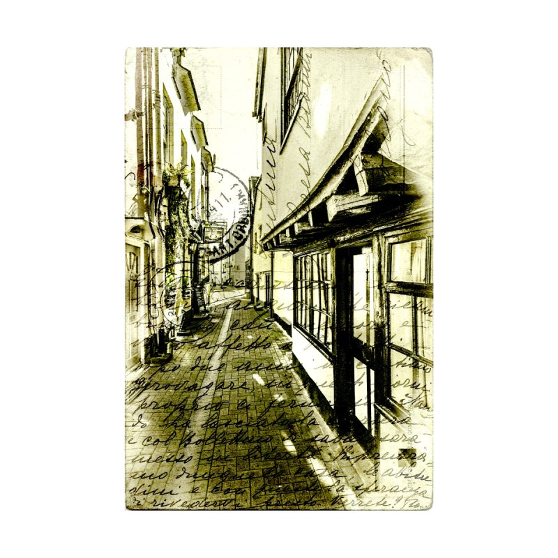 VintageStyle Postcard of an Old Backstreet by Phototrinity's Wall Art Shop