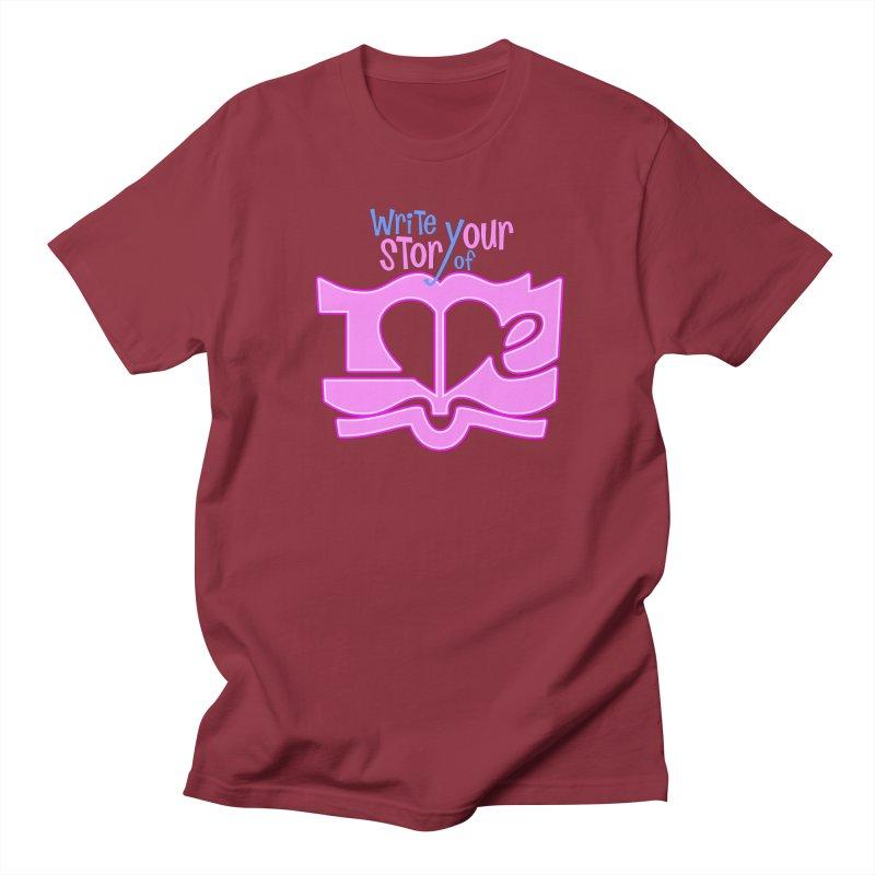 Love Story in Men's T-Shirt Scarlet Red by PickaCS's Artist Shop