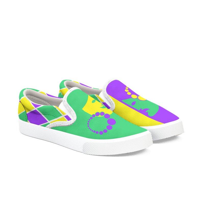 Mardi Fest Men's Slip-On Shoes by PickaCS's Artist Shop