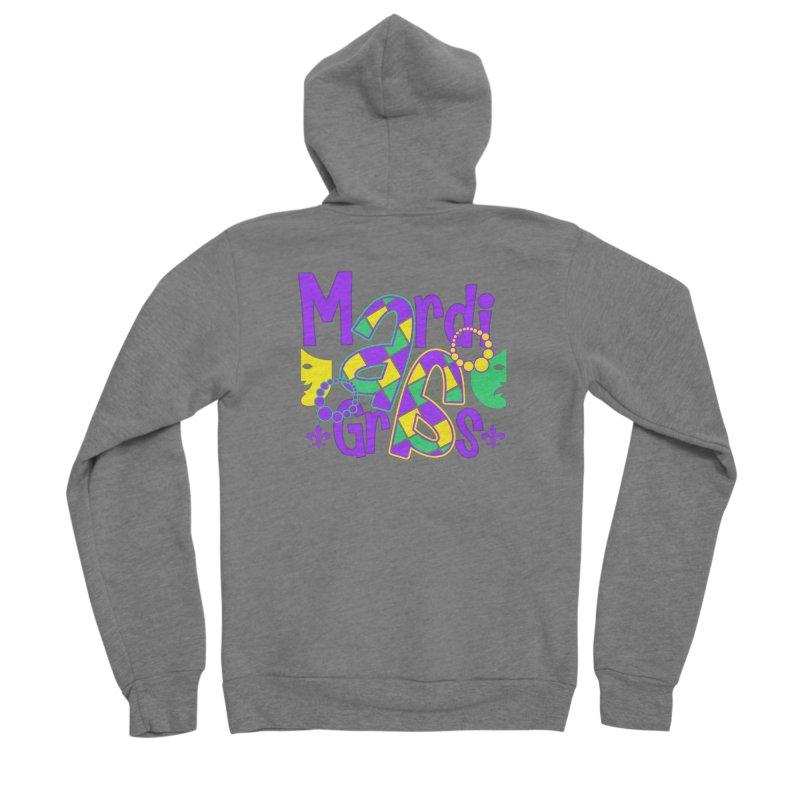 Mardi Fest Women's Sponge Fleece Zip-Up Hoody by PickaCS's Artist Shop