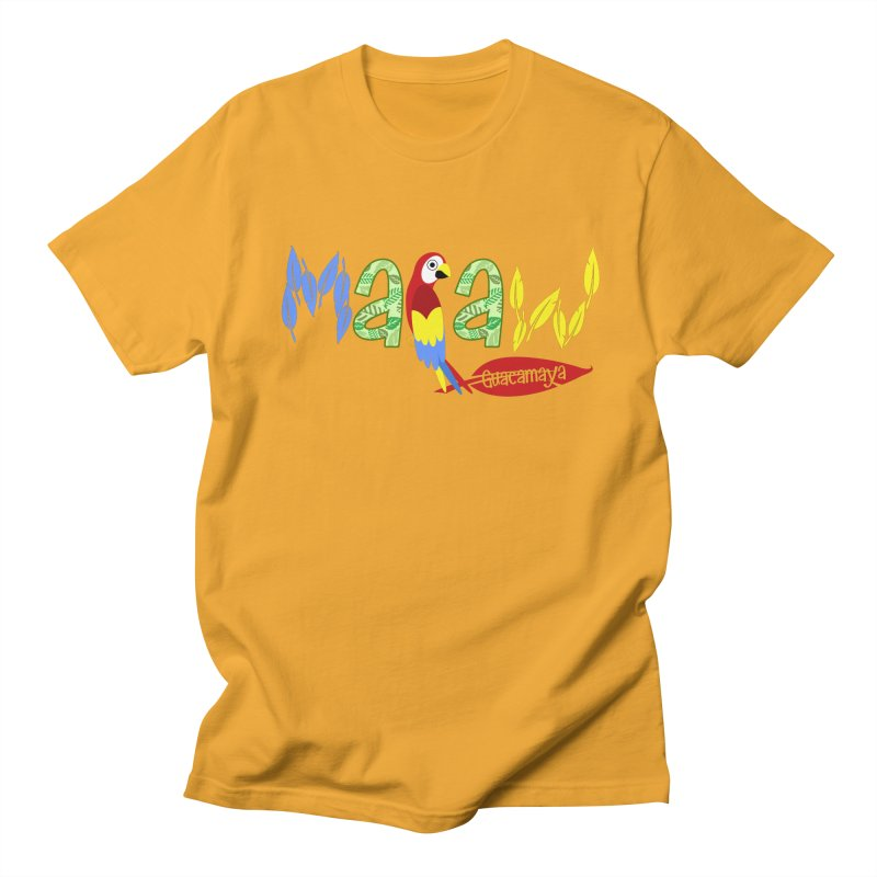 GuacaMAYA in Men's Regular T-Shirt Gold by PickaCS's Artist Shop