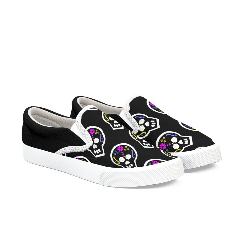 Dia de los Muertos Women's Slip-On Shoes by PickaCS's Artist Shop