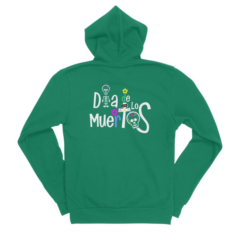 Dia de los Muertos Men's Sponge Fleece Zip-Up Hoody by PickaCS's Artist Shop