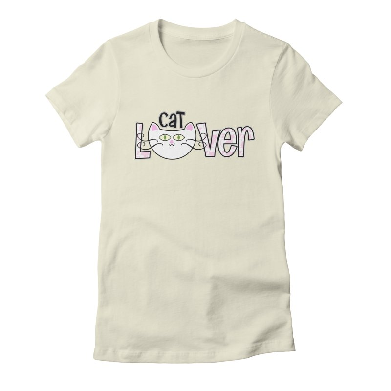 Cat Lover in Women's Fitted T-Shirt Natural by PickaCS's Artist Shop