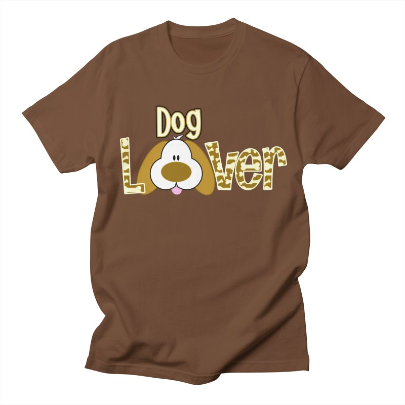 Dog Lover in Men's Regular T-Shirt Brown by PickaCS's Artist Shop