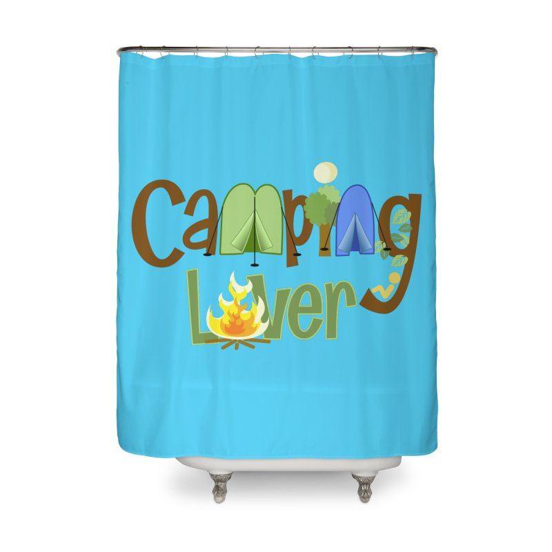Camping Lover Home Shower Curtain by PickaCS's Artist Shop
