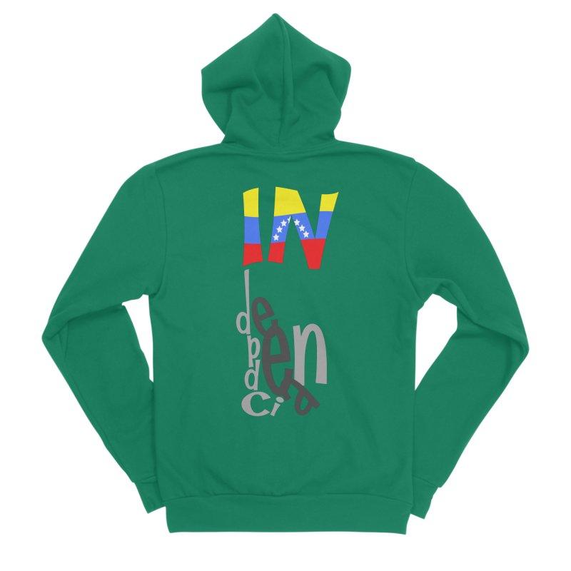 INdependencia Women's Sponge Fleece Zip-Up Hoody by PickaCS's Artist Shop