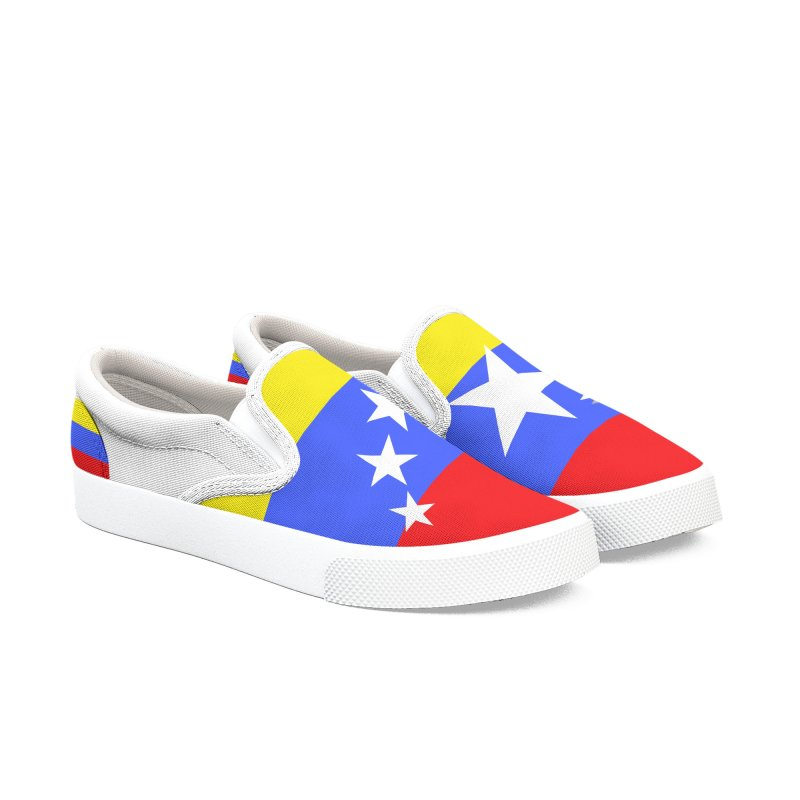 Venezolanos en Texas Women's Slip-On Shoes by PickaCS's Artist Shop