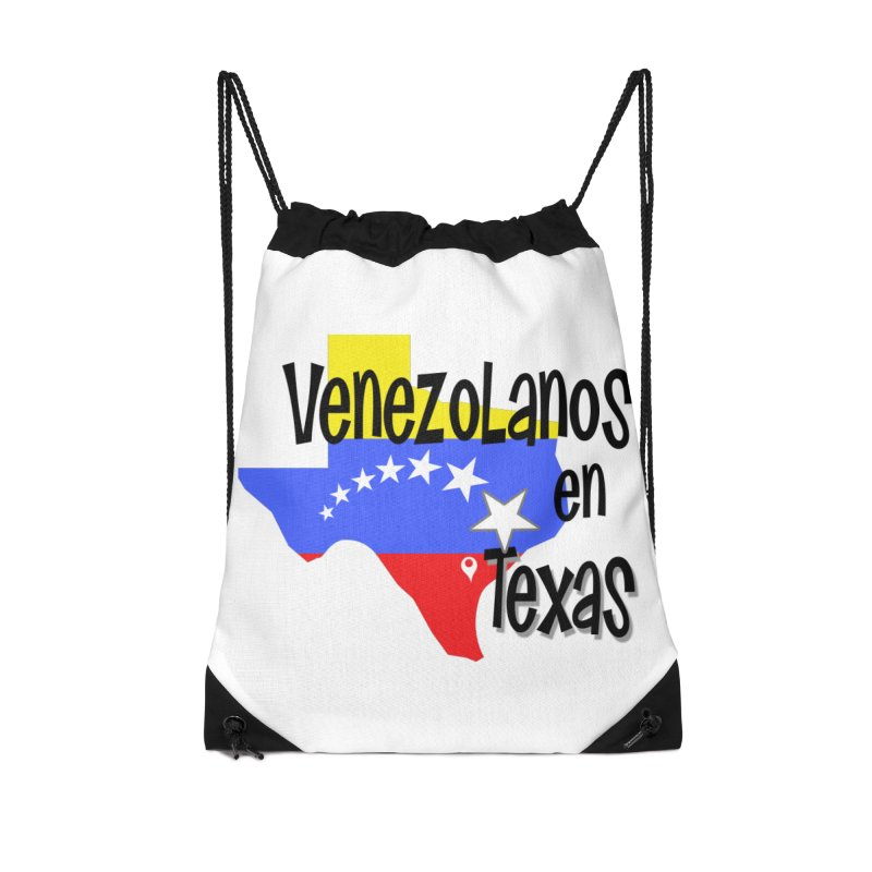 Venezolanos en Texas in Drawstring Bag by PickaCS's Artist Shop