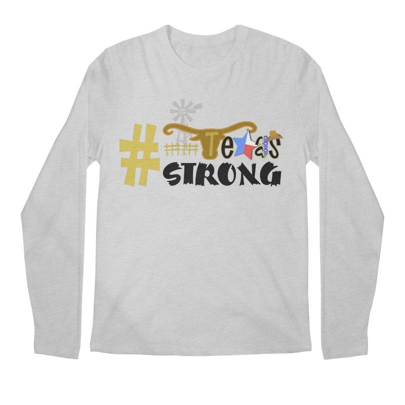 #TexasSTRONG Men's Longsleeve T-Shirt by PickaCS's Artist Shop