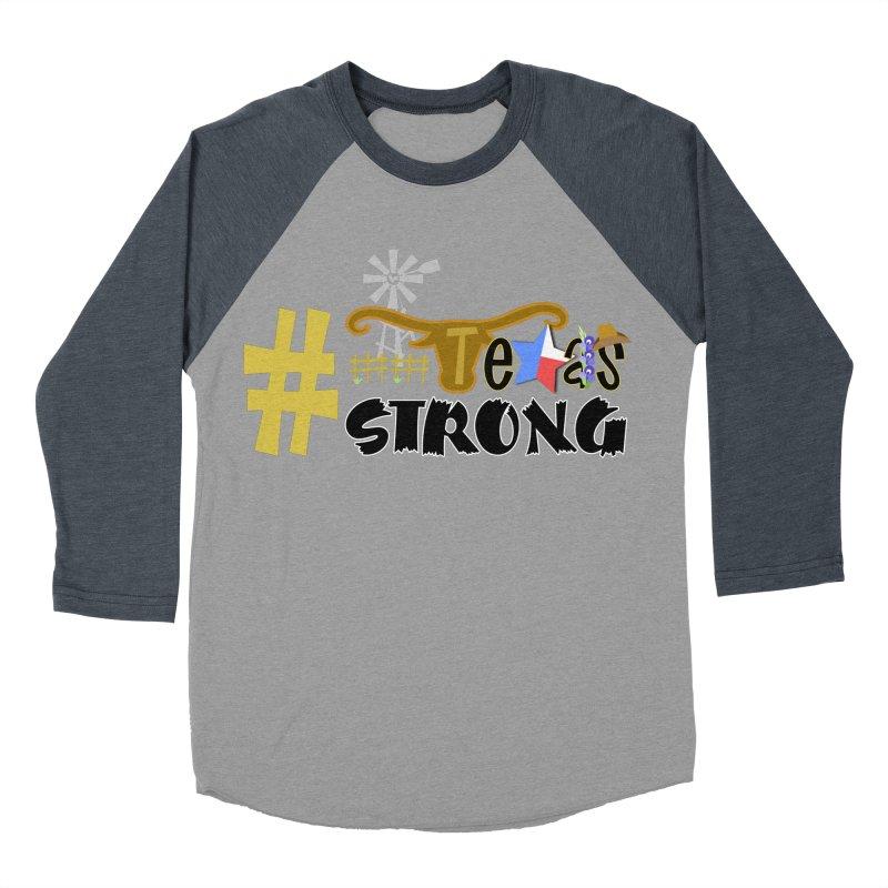 #TexasSTRONG Men's Baseball Triblend T-Shirt by PickaCS's Artist Shop