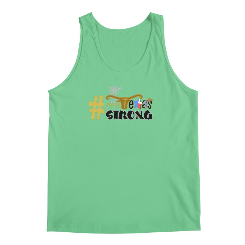 #TexasSTRONG Men's Tank by PickaCS's Artist Shop
