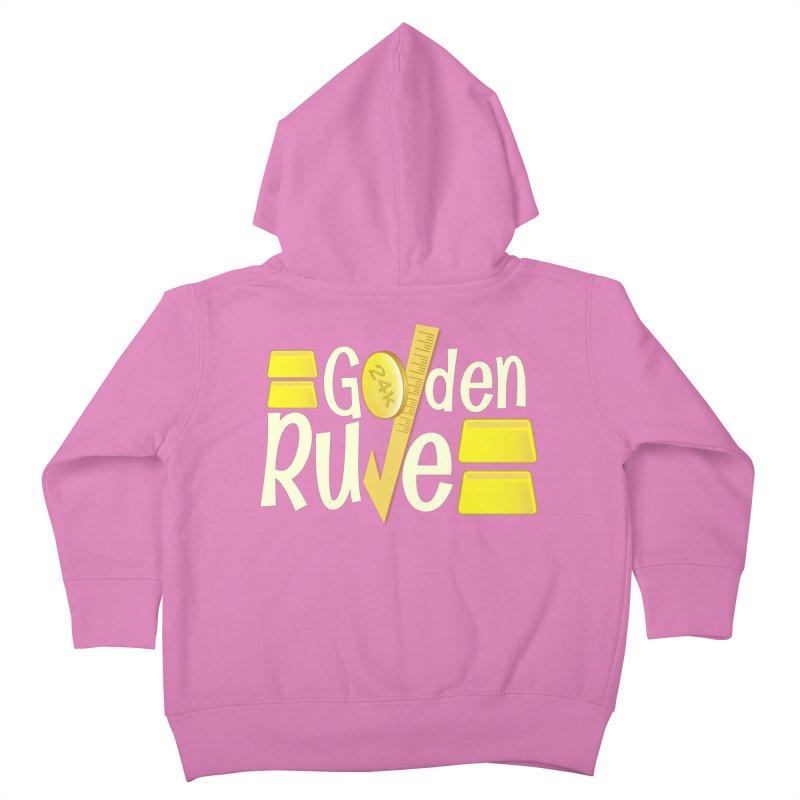 The Golden RULE Kids Toddler Zip-Up Hoody by PickaCS's Artist Shop