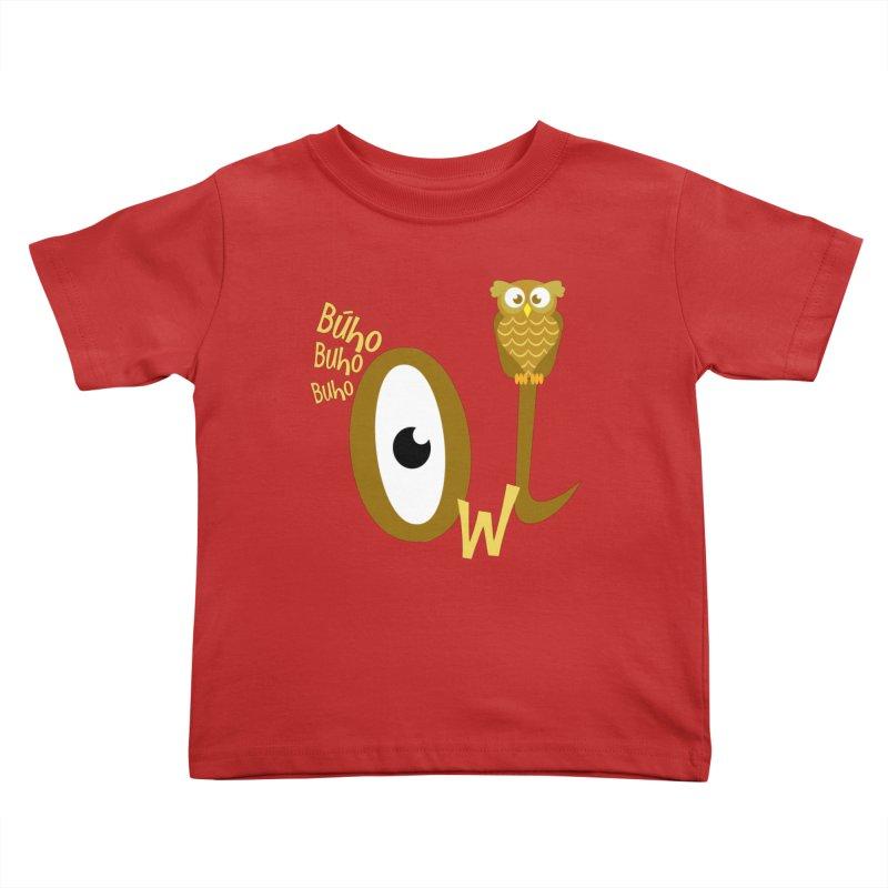 Búho Kids Toddler T-Shirt by PickaCS's Artist Shop