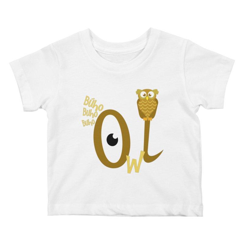 Búho Kids Baby T-Shirt by PickaCS's Artist Shop
