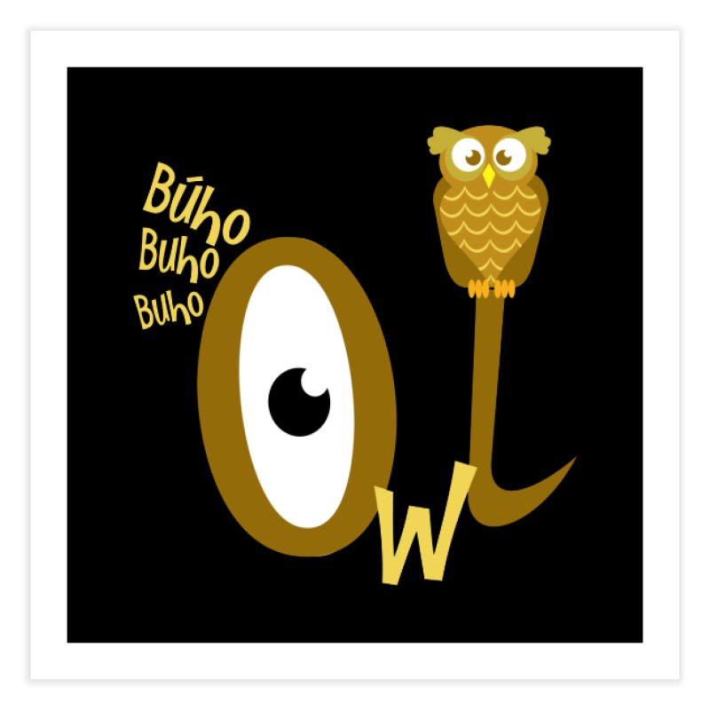 Búho Home Fine Art Print by PickaCS's Artist Shop