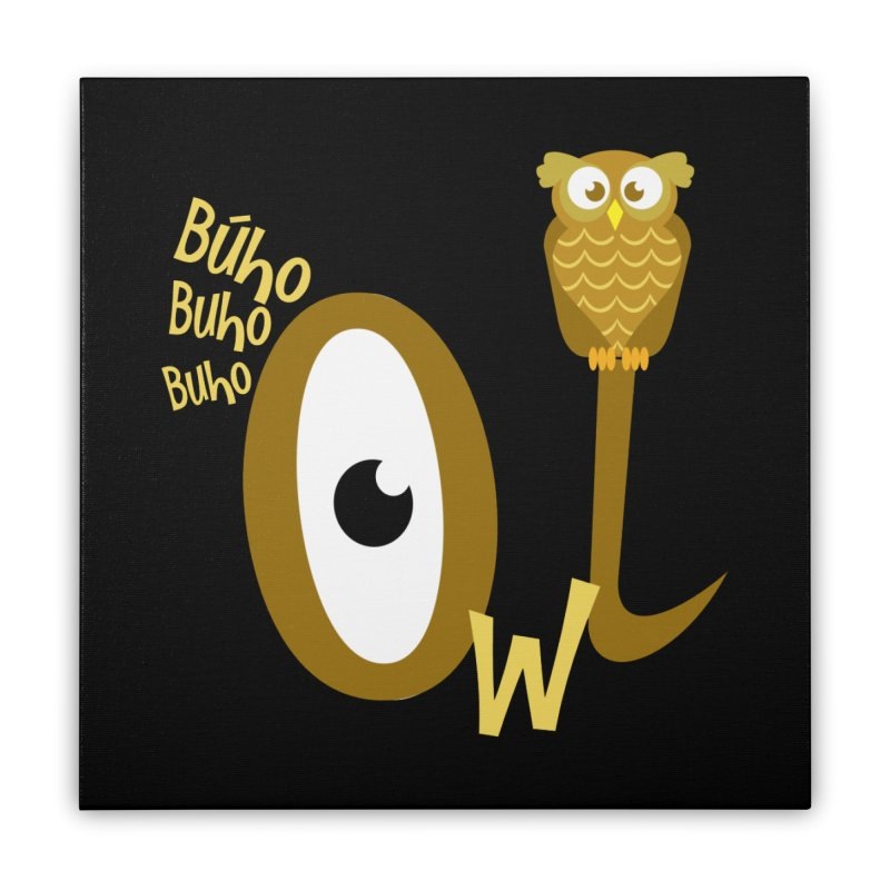 Búho Home Stretched Canvas by PickaCS's Artist Shop