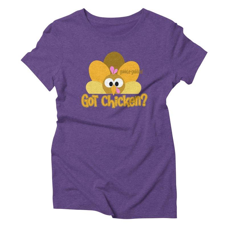 GObble-gobble! Women's Triblend T-Shirt by PickaCS's Artist Shop
